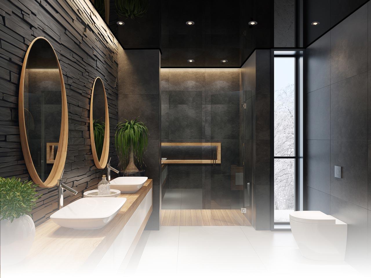Spanndecke im Badezimmer